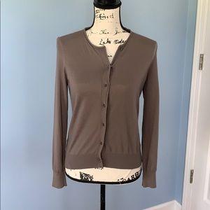 ANN TAYLOR light brown cardigan small